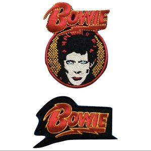 Accessories - David Bowie Patch Band Iron On Band Badge pop DIY